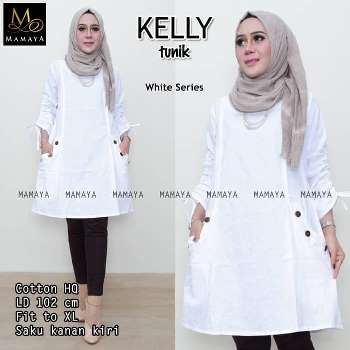 Baju Tunik Putih Kelly
